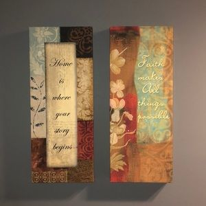 Wall canvas set from Old Time Pottery